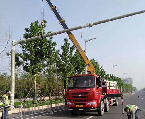 河北道路监控杆安装